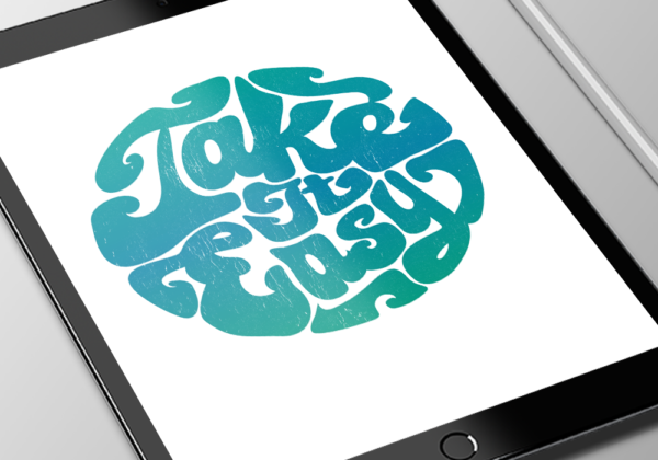 Retro design for Take It Easy merchandise