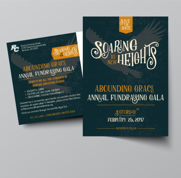 Rancho Christian School Gala Fundraiser print materials